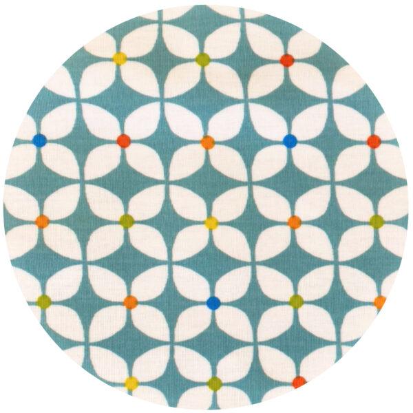 Blue geo fabric