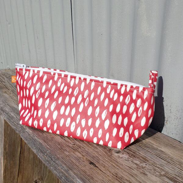 Red Dash Make Up Bag